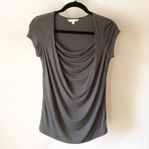 Cabi Waterfall Drape-Neck T-Shirt